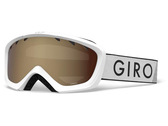 Giro Chico Gafas, white zoom/amber rose